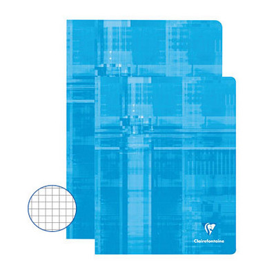 Clairefontaine Exercise Books 48 Page 220X170Mm Light Blue Box 50