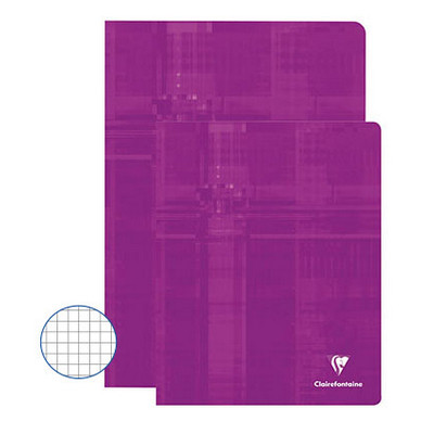 Clairefontaine Exercise Books 48 Page 220X170Mm Orchid Purple Box 50
