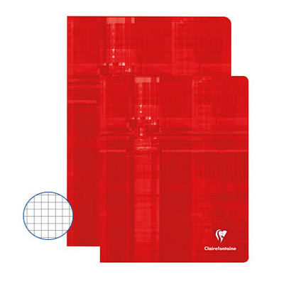 Clairefontaine Exercise Books 48 Page 220X170Mm Red Box 50
