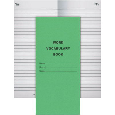 Exercise Book Word/Vocabulary 72 Page 210 X 97Mm Pack 40