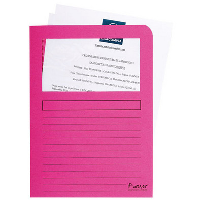 Forever Window Folders A4 Assorted Pack 10