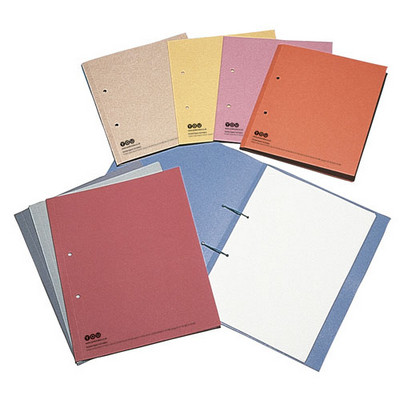 Punched Square Cut Folders Green Pack 10