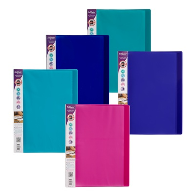 Electra Display Books A4 Assorted Pack 10