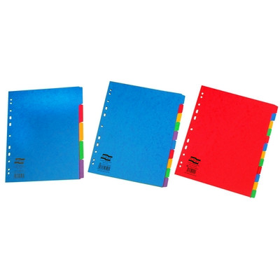 Europa Extra Wide Coloured Dividers 10 Part Set