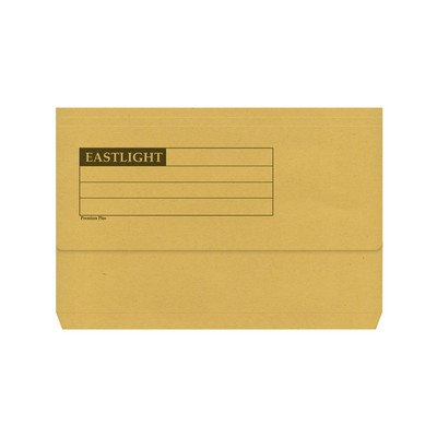 Document Wallets Foolscap Yellow Box 50