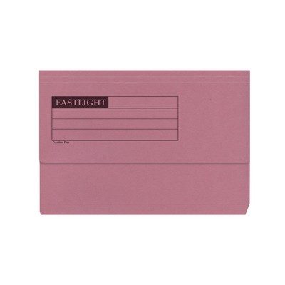 Document Wallets Foolscap Pink Box 50