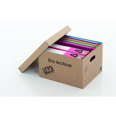 Archive Box With Lid Single Walled 250X330X400Mm Pack 10