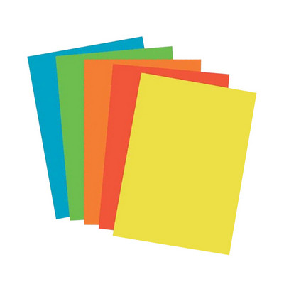 Rainbow Pack 80Gsm A4 Assorted Deep Colours Box 5 Reams