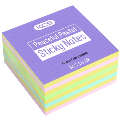 YOU Rcy Sticky Notes, Rbow, 400shts, 75x75mm, Ea