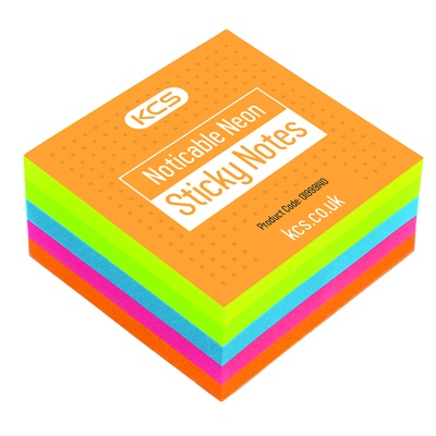 YOU Sticky Notes, Neon, 400 shts, 75x75mm, Ea
