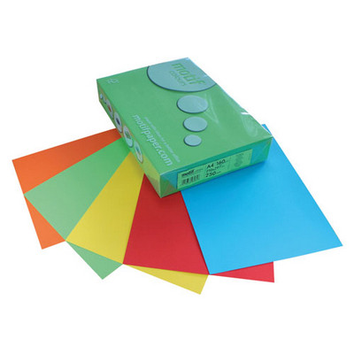 A4 Mixed Colour Card Pack 160Gsm Strong Tints Pack 1000 Sheets