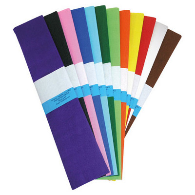 YOU Crepe Paper, 12 Assorted Cols, 500mmx3m, Bx12
