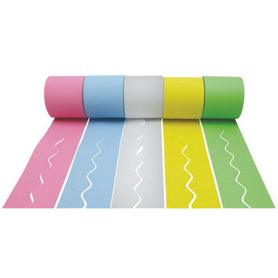 Cool Colours Scalloped Paper Border Rolls Assorted Pack 5