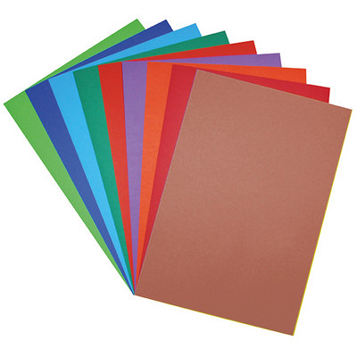 Coloured Vivid Board A2 Brown Pack 10