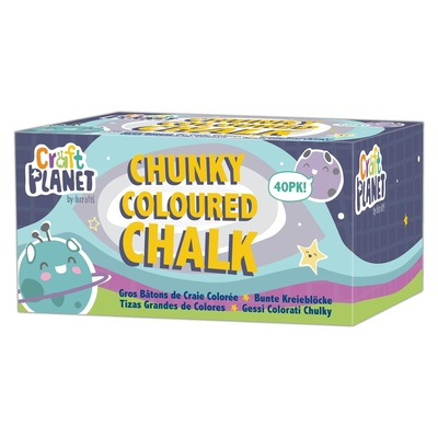 Chalk, Chunki, Assorted Colours, Pack 40