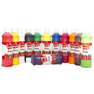 Ready Mixed Paint, Vermillion, 600ml, Ea
