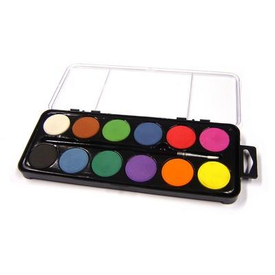 12 Colours Watercolour Paint Palette Assorted Each