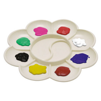 10 Well Small Plastic Flower Palette White Each