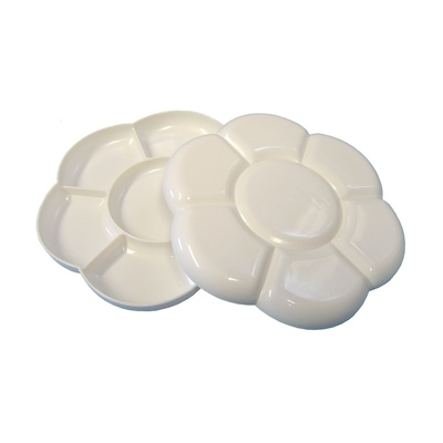 7 Well Large Plastic Flower Palette White Each
