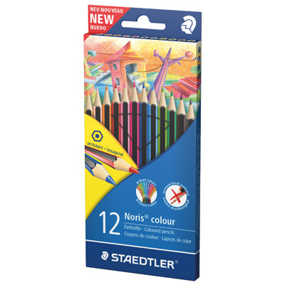 Pencils, Staedtler Noris Colour, Assorted, Pack 12