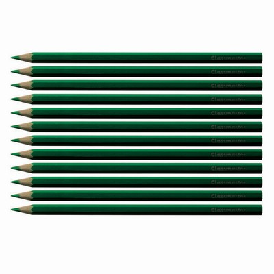 Colouring Pencils Green Pack 12