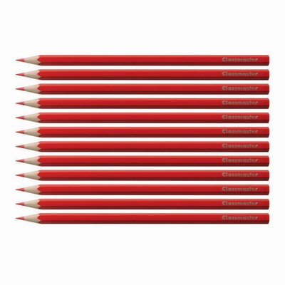 Pencils, Coloured, Scarlet, Pack 12