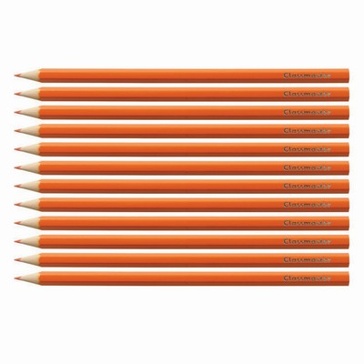 Pencils, Coloured, Orange, Pack 12