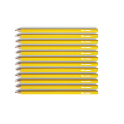 Pencils, Coloured, Yellow, Pack 12
