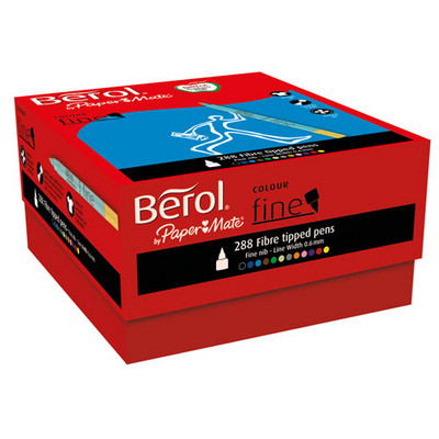 Berol Colouring Pens Fine Tip Assorted Pack 288