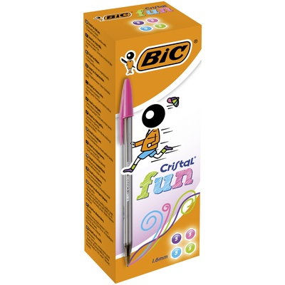 Bic Cristal Fun Assorted Box Of 20