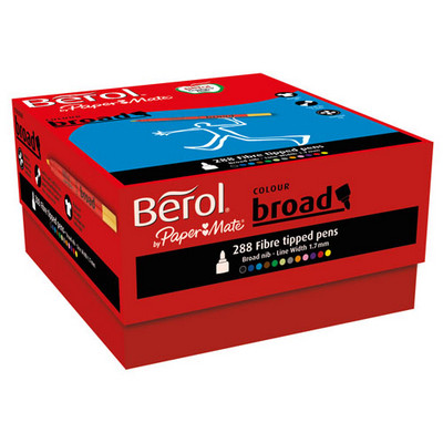 Berol Colouring Pens Broad Tip Assorted Pack 288