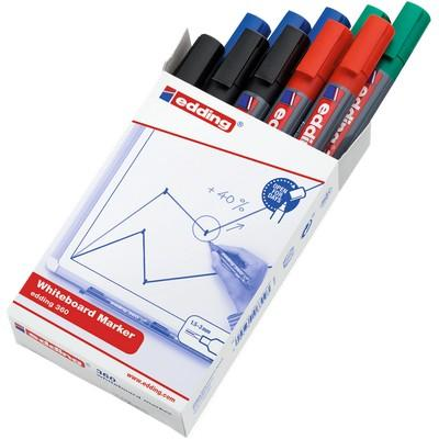 Edding 360 (Cap Off) Drywipe Markers Assorted Box 10