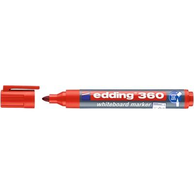 Edding 360 (Cap Off) Drywipe Markers Bullet Tip Red Box 10