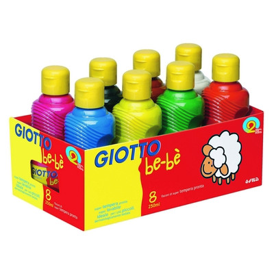 Giotto Washable Be-Be Paint Assorted Box 8