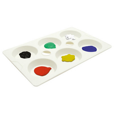 6 Well Mixing Palette White Pack 10