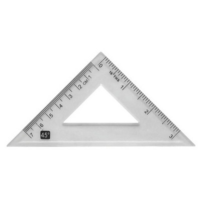 45 Degree Set Square Clear Pack 10