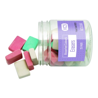 YOU Erasers, Assorted Colours, Tub 25