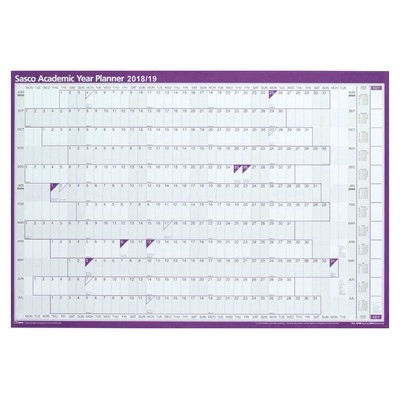 Mounted Academic Year Planner 2020/21  Each