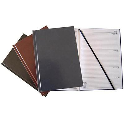Calendar Year Diary 2021 Day To Page A4 Black Each