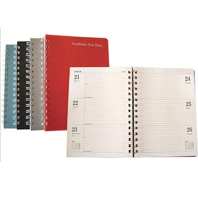 12 Month Polypropylene Academic Diaries 2020/21 A4 Assorted Each