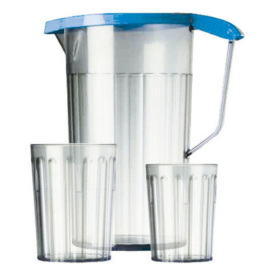 Antibacterial Jug With Lid Clear Each 1.1Ltr