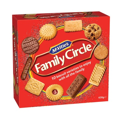 Crawfords Family Circle Biscuits Box 670G
