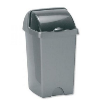 Addis Rolltop Household Bin, Metallic, 25 Litre