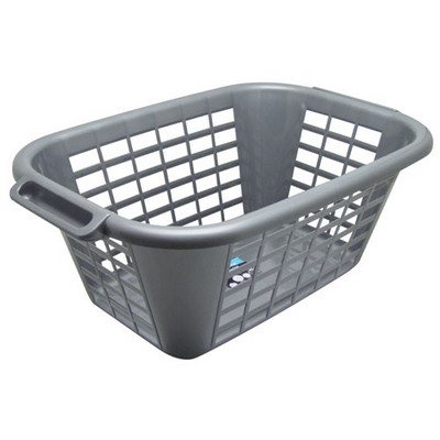 Laundry Basket Metallic Grey Each