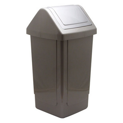 Bin, Swingtop 40ltr met silver EACH
