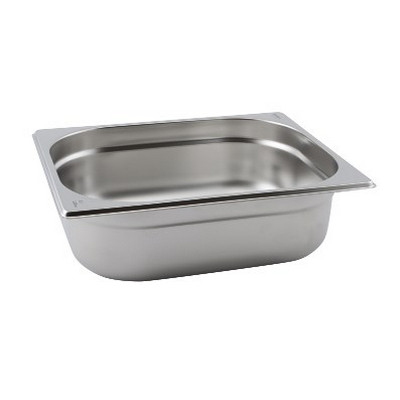 Half Size Stainless Steel Gastronorm Perforated Container D100Mm Each