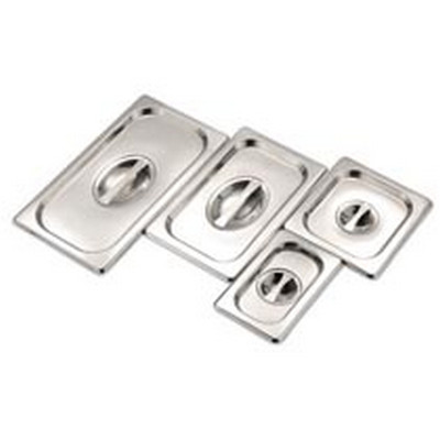 Quarter Size Stainless Steel Gastronorm Container Lid Quarter Size Each
