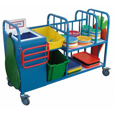 Plates, Trays And Bowls Clearing Trolley Each