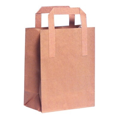 Brown Paper Bag With Handles Pack 250