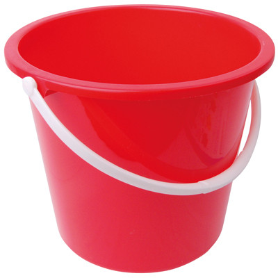 Bucket Domestic Plastic Red Each